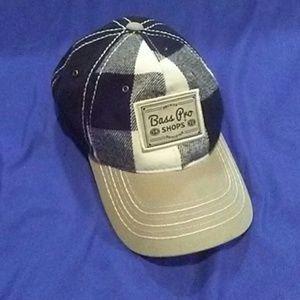 Accessories - Bass Pro plaid baseball cap hat